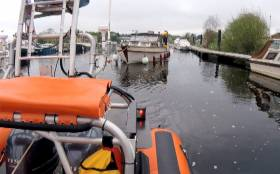 Carrybridge RNLI on callout to a boat taking on water in Belturbet on Sunday 6 May