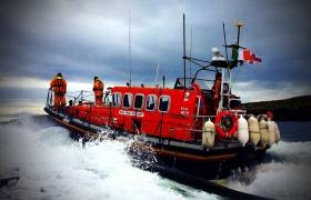 Clifden RNLI's all-weather lifeboat on exercise