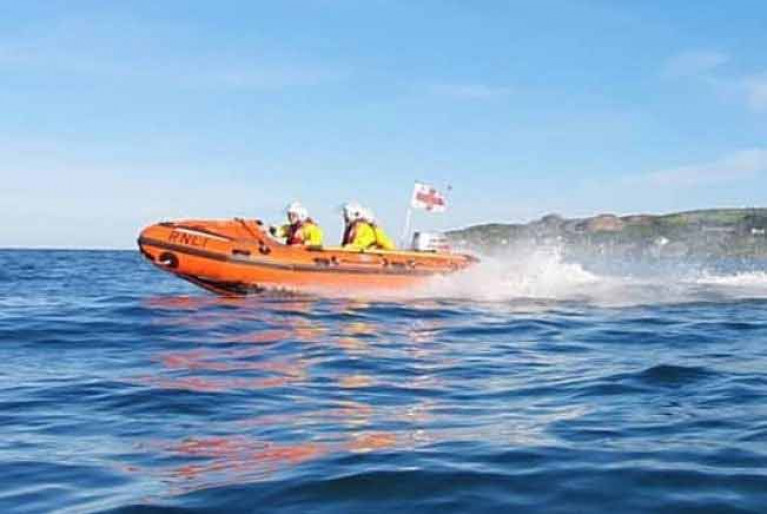 The Howth RNLI inshore boat