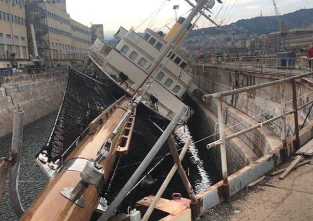 Denis O'Brien Superyacht In Listing Incident At Italian Dry Dock