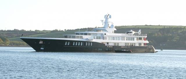 Superyacht Air, a 265–foot Feadship, during her Kinsale visit in June 2015