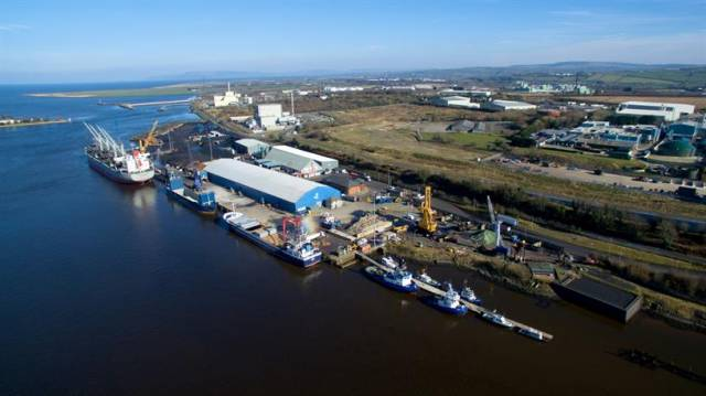 Foyle Port's day-to-day operations straddle Derry and Donegal, above Afloat adds is the port's main terminal in Lisahally in Northern Ireland