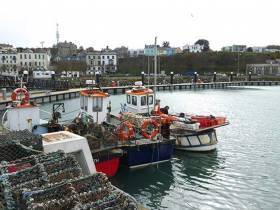 Howth's new small fishing craft pontoon in County Dublin
