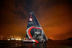 Scallywag arrives in Hong Kong after 18 days of racing from Melbourne