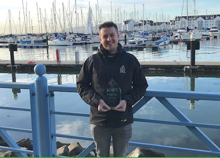 Honour for Belfast Lough Sailor Chris Lindsay with SportMaker Technical Official of the Year Award