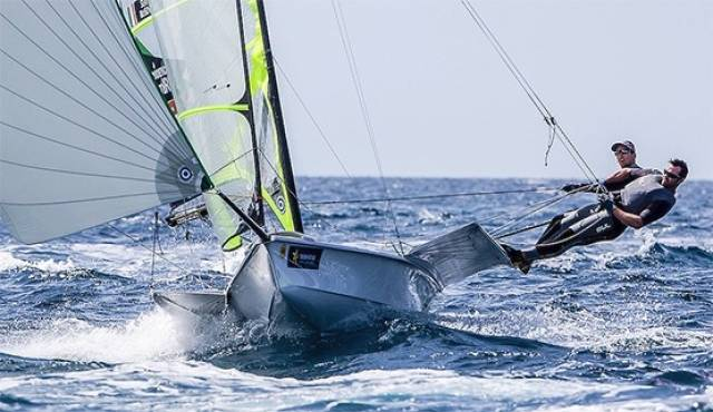 Ryan Seaton & Matt McGvern of Belfast Lough on their way to Gold at Palma in April