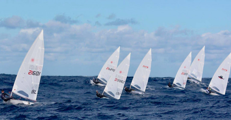 Optimal conditions for the Irish Olympic Laser team training in Malta this month
