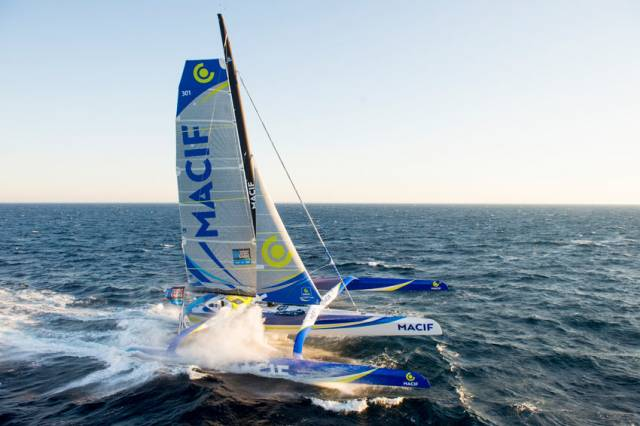 Francois Gabart and his MACIF, sailing with North Sails 3Di, took the outright solo around-the-world record last month