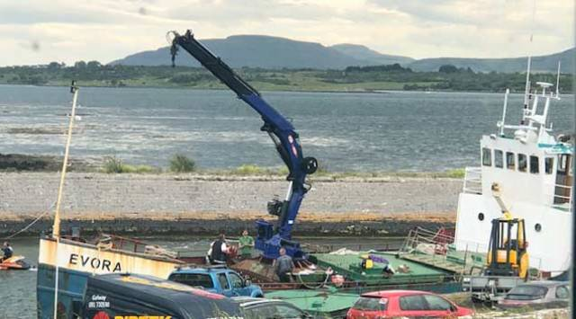 Ship Holed at South Galway Pier Detained by Irish Authorities as Residents Fear Pollution Risk