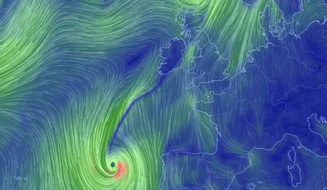 Storm Ophelia approaches Ireland. Scroll down for animation and a website link to check on the track to Irish shores