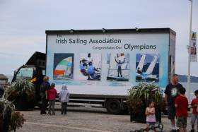 The Irish Sailing Association (ISA) pushed the boat out to welcome home the Olympic Sailing team this week in Dun Laoghaire