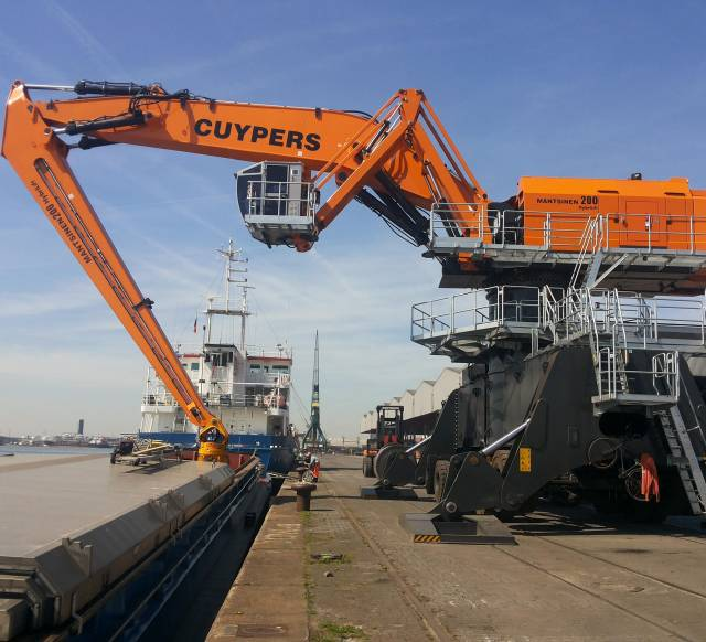 An example of the 200M Mantsinen crane, which when completed will be the World's largest hydraulic crane located at ABP's Port of Garston on the Mersey, south of Liverpool