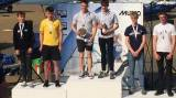 Durcan and Twomey on the podium in Weymouth