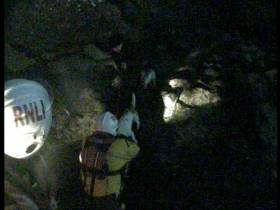 Skerries RNLI rescue the man and woman and their two dogs from Loughshinny on Sunday night