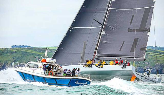 The 2016 race saw several records broken with George David in Rambler 88 (above) taking both 1st place in IRC and monohull Line Honours
