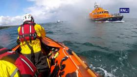 Larne inshore lifeboat was launched following reports of an over-turned kayak at Carnfunnock