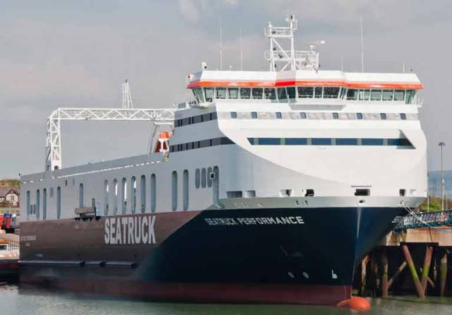 The move will see the four-deck Seatruck Precision and Seatruck Performance (above) replace the current three-deck vessels