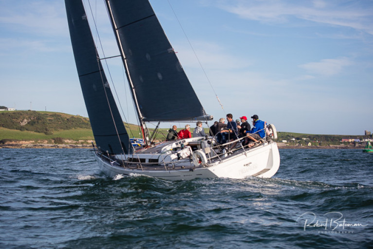 Royal Cork's Annamarie and Denis Murphy's Grand Soliel 40, Nieulargo is racing in tonight's KYC Fastnet Race
