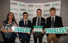 The Bray Sailing Club team at the Inclusion Awards