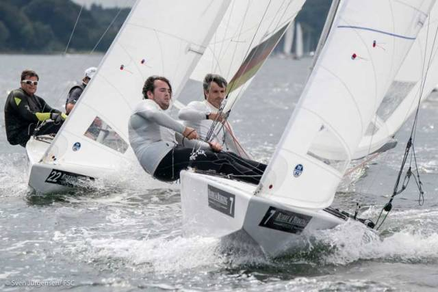 Peter and Robert O'Leary competing in the 2018 Star Europeans Championship in Flensburg, Germany