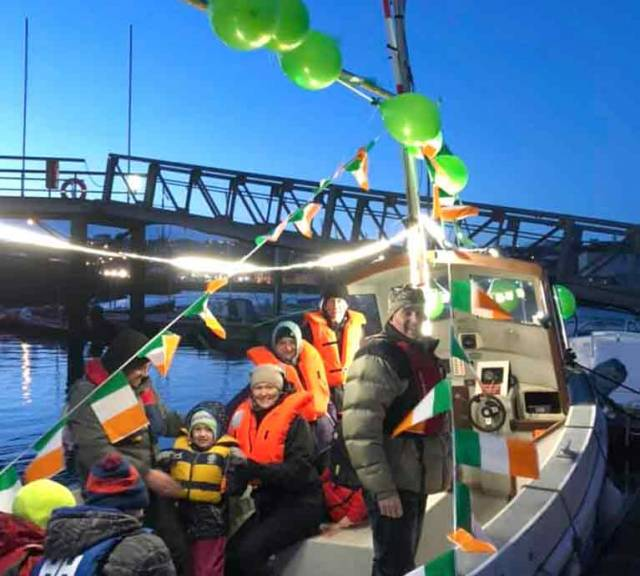 Kinsale Maritime Parade Celebrates St. Patrick's Day on Water