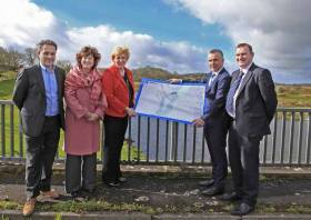 Cross-border canal:  (L-R) F Fox, Fox Contracts, D Livingstone CEO, Waterways Ireland, Minister Humphreys, P Graham & S Acheson Waterways Ireland