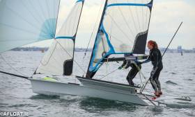 Annalise Murphy and Katie Tingle have moved up the Kiel Week 49erFX leaderboard