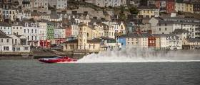 Running at speeds in excess of over 160 kilometres per hour, England's 'Vector Martini' drew quite a crowd of excited spectators to the Cobh seafront