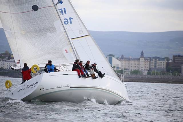 Rodney and Keith Martin's Lively Lady from the Royal Irish Yacht Club races to Wicklow tomorrow in the first ISORA coastal race of the season