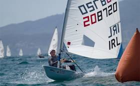 Annalise Murphy leads the silver fleet in Mexico