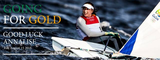 Annalise goes for gold this evening in the Laser Radial Medal Race