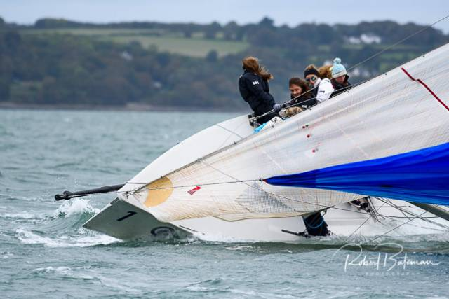 A 1720 sportsboat competitor deals with the gusty conditions for the first races of RCYC's Autumn League. Scroll down for gallery