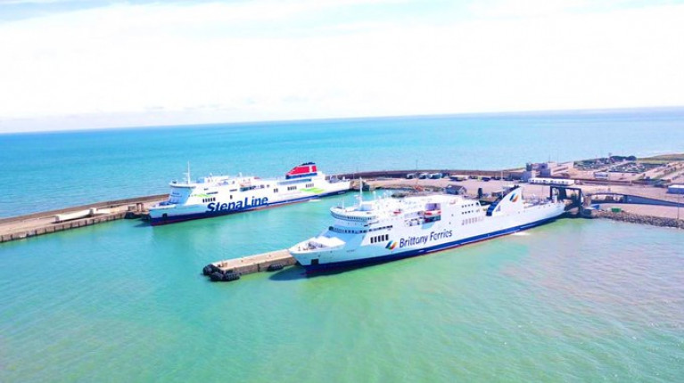 Sunny South-East: Rosslare Europort where AFLOAT adds is Stena Line's ropax Stena Horizon serving Cherbourg and newcomer rival to the Wexford port, Brittany Ferries, whose Kerry (also ropax) in March was to have launched a new service to Roscoff, however advise from Irish and France governments due to Covid-19 prevented the launch, though the 'économie' branded route is rescheduled to start this month (a fortnight from today, Monday 15 June). A third operator, Irish Ferries (likewise of Stena) also runs a route to Pembrokeshire, south Wales. Irish Ferries abandoned their services to Roscoff/Cherbourg in favour of basing W.B. Yeats on the Dublin-Holyhead/Cherbourg routes, the latter currently served by ropax Epsilon.