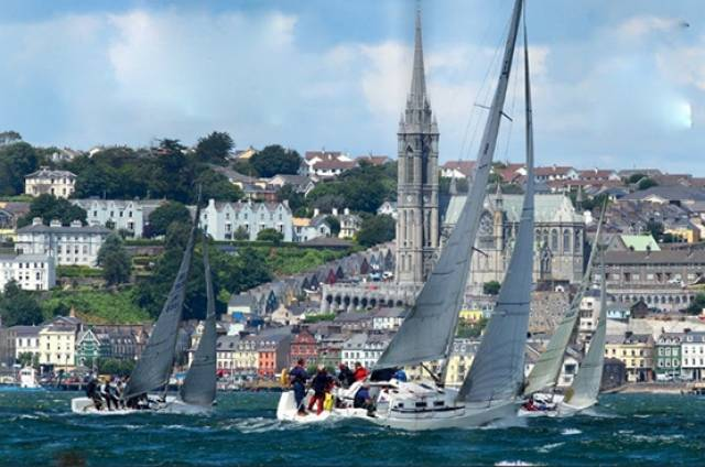 The famous Harbour Race at Volvo Cork Week