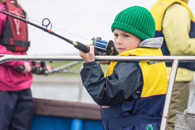 Newport Sea Angling Club's youngest participant Cian Moran, waiting patiently for his first fish of the day during the 2016 National Junior Competition/Daniel Peacock Memorial supported by Inland Fisheries Ireland's Sponsorship Scheme