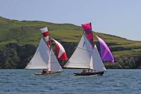 """The most unspoilt coastline in all Ireland"" – the Howth 17s Aura and Pauline in the annual race round Lambay, where the coastline remains pristine despite being less than a dozen miles from Dublin city centre"