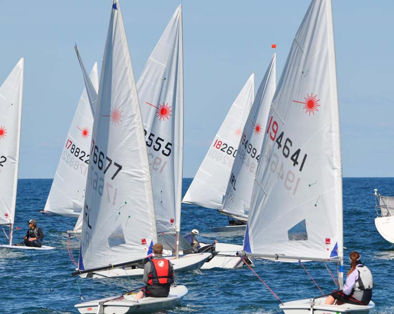 Laser sailing at the Ulster Championships - the European Radial Championships to be sailed on Belfast Lough has been cancelled