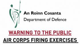 WARNING TO THE PUBLIC AIR CORPS FIRING EXERCISES