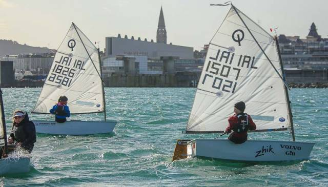 Optimist dinghies at Dun Laoghaire