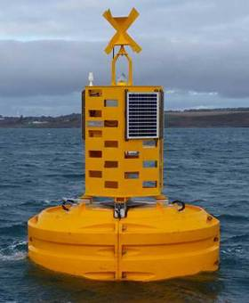 Data from the wave buoy is used to ensure the safety of ships coming in and out of Cork Harbour