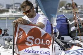 Northern Ireland solo sailor Hamish Baker from Strangford Lough is in action in France today