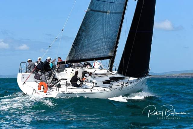 West Cork sailing at its best – Paul O'Higgins' JPK 10.80 Rockabill VI in action at Calves Week