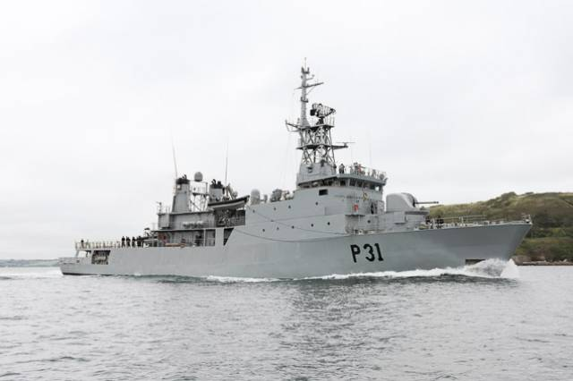 Le Eithne was involved in a top cover exercise
