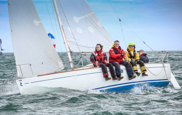 DBSC Beneteau 211 racing on Dublin Bay