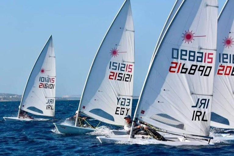 Irish Lasers training in Malta ahead of today's Lanzarote Winter Series