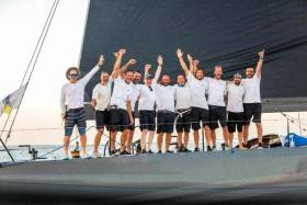 Victory: Eric de Turckheim's French Nivelt-Muratet 54 Teasing Machine take the 2017 RORC Transatlantic Trophy