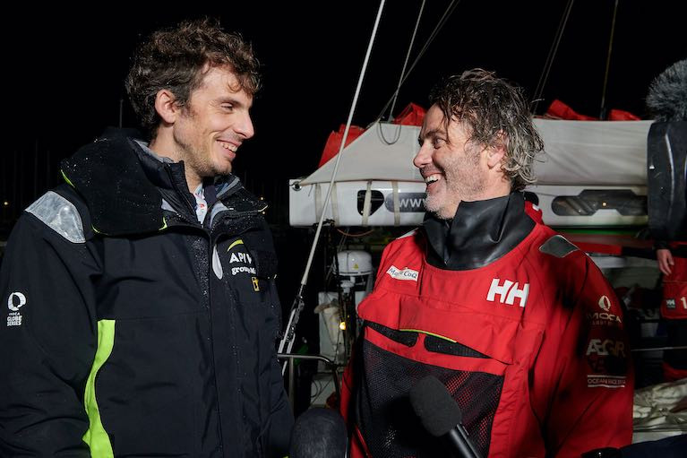 Yannick Bestaven Sportingly Declares Two Winners of the Vendee Globe Race