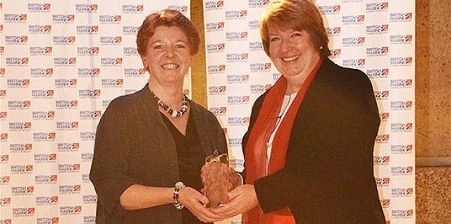 Best Marine Charity (L-R) Christine Law Tall Ships Youth Trust and Fiona Pankhurst British Marine