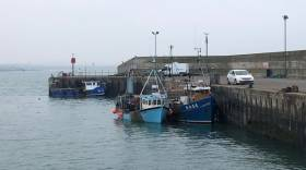 The detained NI registered fishing boats berthed in Port Oriel in Clogherhead, Co. Louth