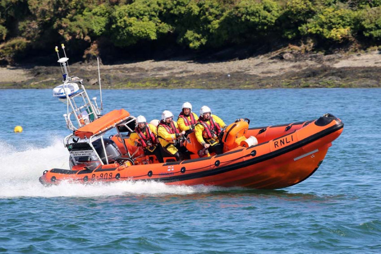 File image of Kinsale RNLI's inshore lifeboat Miss Sally Anne Baggy II